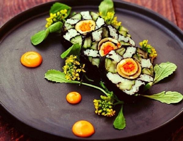 Cơm cuộn là Tên các món ăn Hàn Quốc nổi tiếng